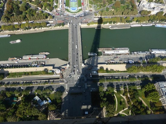 view from top of eiffel tower picture of paris ile de france