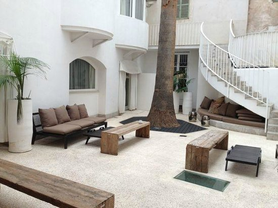 outdoor lobby picture of puro hotel palma de mallorca tripadvisor. Black Bedroom Furniture Sets. Home Design Ideas