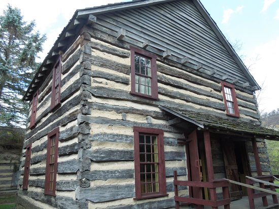 Authentic Log Cabin Picture Of Old Bedford Village