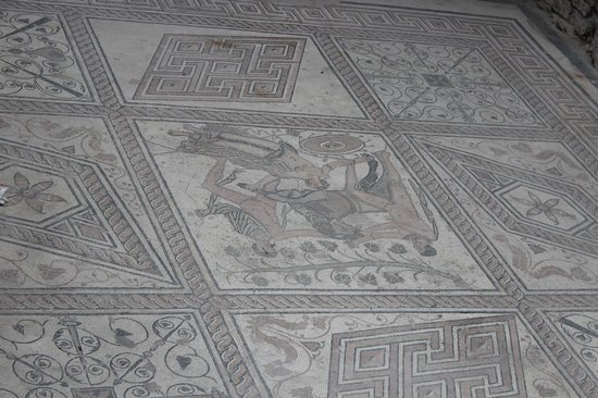 Floor mosaic The Punishment of Dirce