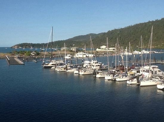 Mantra Boathouse Apartments: The Boathouse 3rd floor view with the Whitsundays in the background, Marina in front.