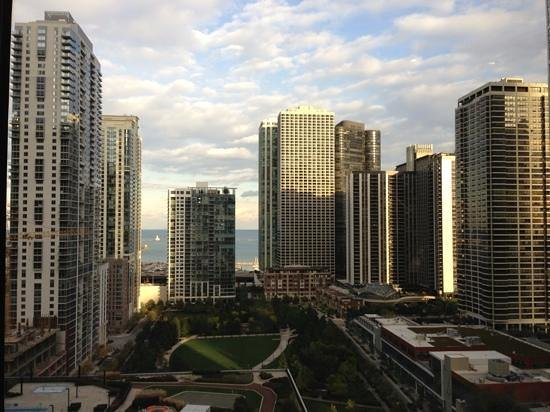 View From The 15th Floor Gold Level Lounge Picture Of Fairmont Chicago Millennium Park