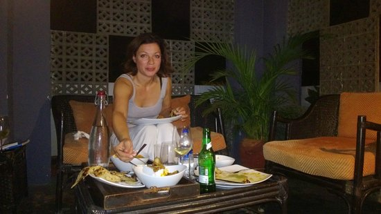 Thikana: Dining at the hotel roof top terrace