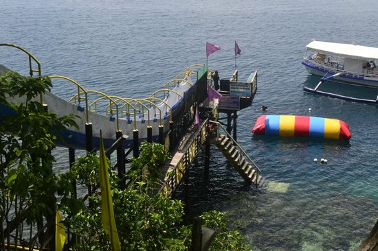 Davao City, Philippines: the giant slide and the other aqua fun