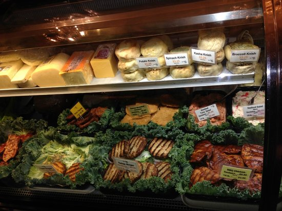 Deli case - turkey burgers are the BEST - Picture of Ess-a-Bagel, New ...