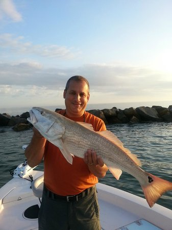 Captain brad with red snapper offshore daytona beach for Fishing charters daytona beach florida