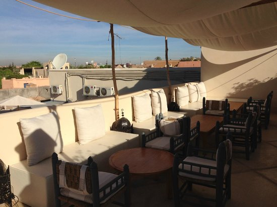 Riad Adore: ROOF TOP ANOTHER LOUNGE AREA