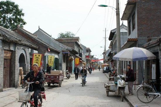 Yongnian County, China: Shopping street