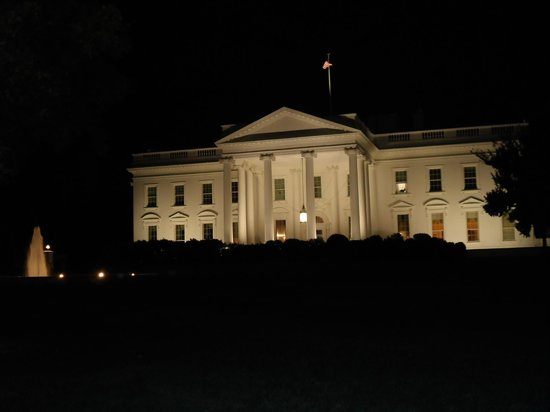 White Night White House Front at Night