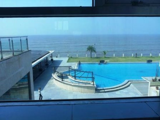 View From Sea Swimming Pool Facing Room Picture Of Hotel Sea Rock Inn Daman Tripadvisor