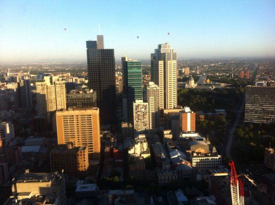 Sofitel Melbourne on Collins: View of the hot air balloons from our superior room!