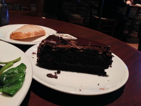 Sacher Cake - Picture of La Madeleine French Bakery & Cafe ...