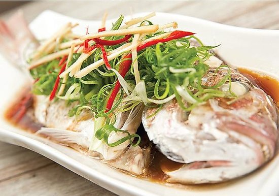 Steam fish with soya sauce picture of abb air thai for Air thai cuisine