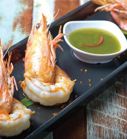 Grilled king prawn picture of abb air thai cuisine for Air thai cuisine