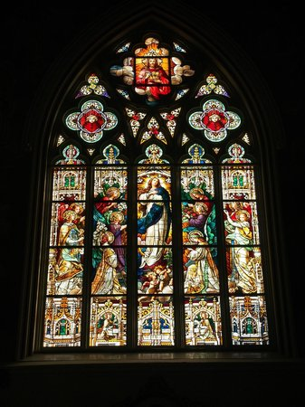Stained Glass Window Picture Of Cathedral Of St John
