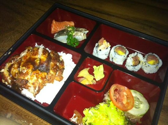 lunch box bento picture of hikaru dining japanese restaurant yogyakarta. Black Bedroom Furniture Sets. Home Design Ideas
