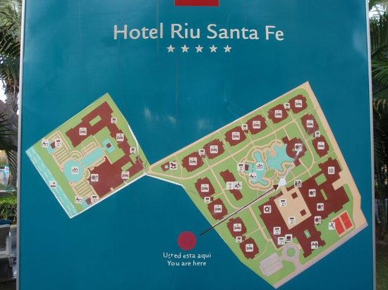 Riu Santa Fe Property Layout  Picture Of Hotel Riu Santa
