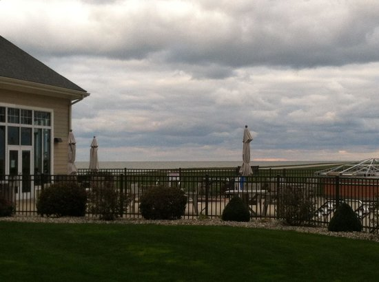 The Lodge at Geneva-on-the-Lake: View from outside of room patio.