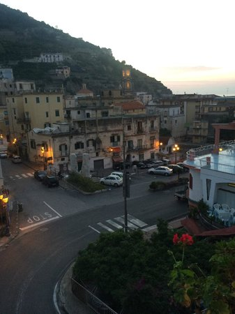 Hotel Maison Raphael: View of Minori at sunrise from the balcony of my room at the Maison Raphael