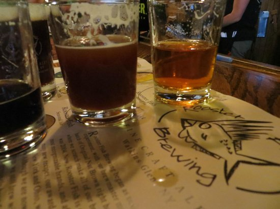 Anchor Inn And Marina: Beer taking at Rooster Fish brewery's pub!!!