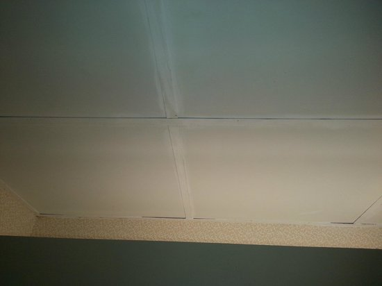Comfort Suites Regency Park: Bathroom Suspended Ceiling Grid - Painted Over to Cover Discoloration
