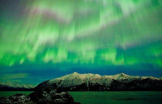 Hampton Inn Anchorage: Gave a photographer my email address at Beluga Point.  He sent me this photo from that night,