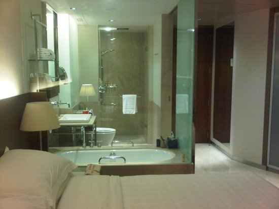 View of bathroom through glass wall - Picture of Trident, Bandra ...