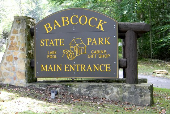 Main Entrance Babcock State Park Picture Of Babcock