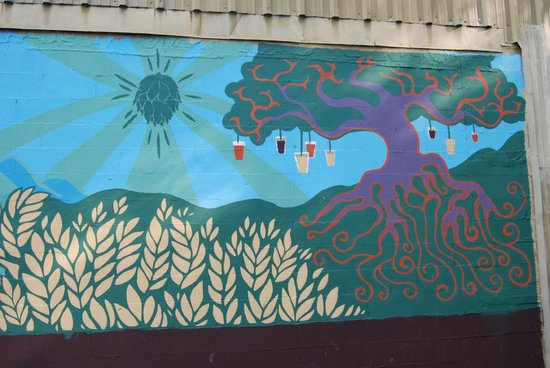 Parkway Brewing Company: Outside mural