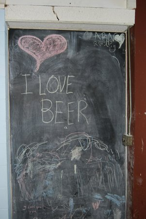 Parkway Brewing Company: The chalkboard wall for kids of all ages