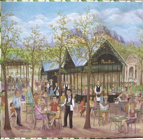Jardin luxembourg cafe painting publicity picture of for Cafe du jardin restaurant covent garden