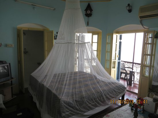 Room Bed Mosquito Net French Doors Balcony Picture Of