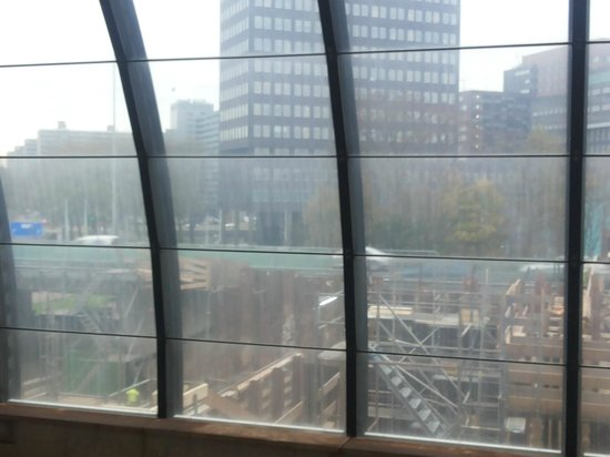 Novotel Amsterdam City: View from RAI train station (hotel is at the back)