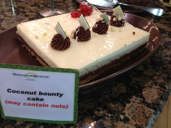 Coconut bounty cake - Picture of Beachcombers, Dubai - TripAdvisor