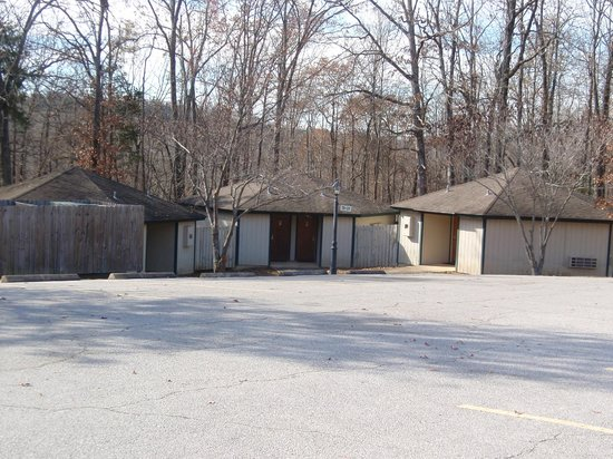 Three Hexagon Cabin Building Together Picture Of Ozark