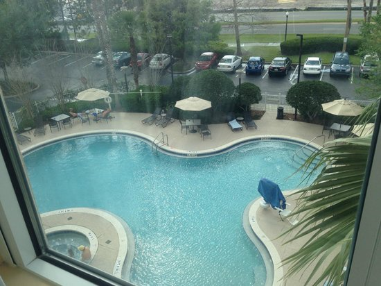Vista Da Piscina Picture Of Hilton Garden Inn Orlando At Seaworld Orlando Tripadvisor