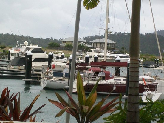 Mantra Boathouse Apartments: View from downstairs coffee shop