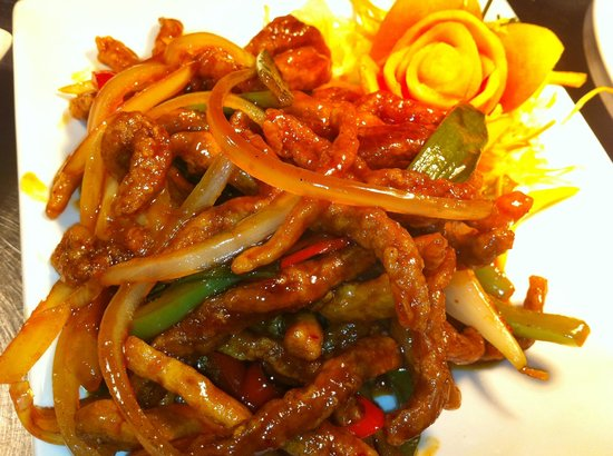 Crispy shredded Beef in spicy sauce - Picture of Long Yuen Court, St ...