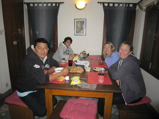 At Home Nepal Guest House: Quiet dinner @Home after a day in Bhaktapur