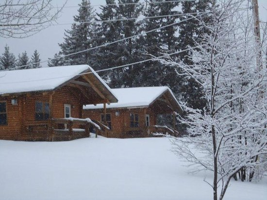 double cottages in the winter picture of margaree forks