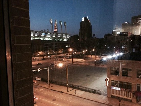 View From Our Room Picture Of Hilton Garden Inn Cleveland Downtown Cleveland Tripadvisor