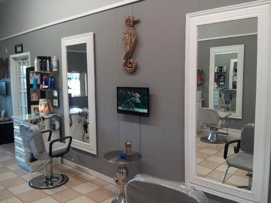 The stylish and modern salon picture of virginia 39 s salon for Photo salon moderne