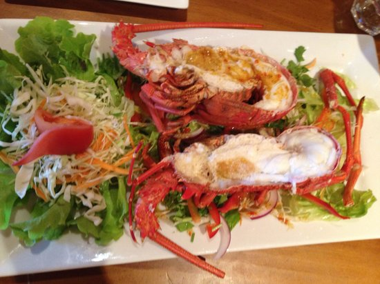 Crayfish thai style picture of thai siam kaikoura for Aroha new zealand cuisine