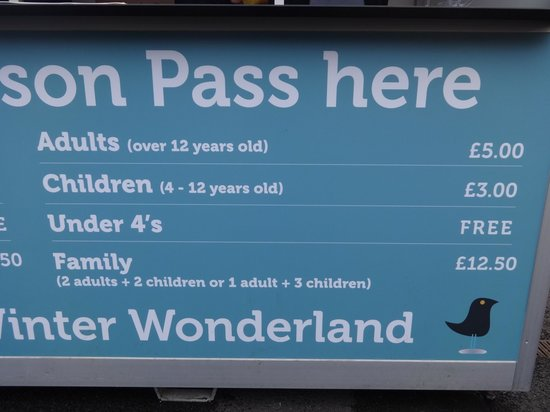 Admission Prices Picture Of Winter Wonderland Chester Tripadvisor