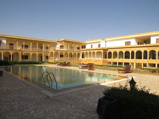 The pool area picture of club mahindra jaisalmer - Jaisalmer hotels with swimming pool ...