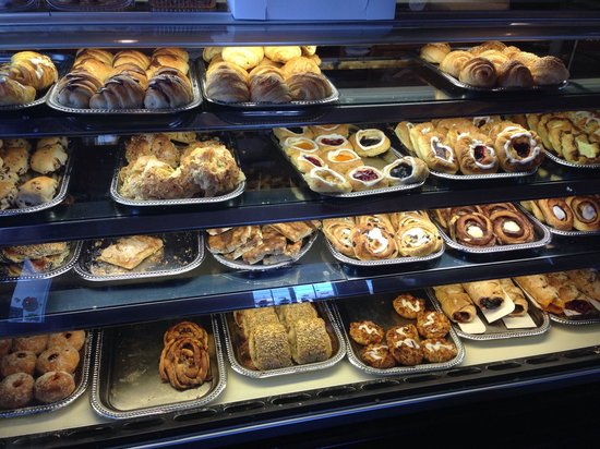 Some of the cakes and pastries.