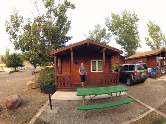 Camping cabin 21 picture of moab valley rv resort for Moab utah cabins
