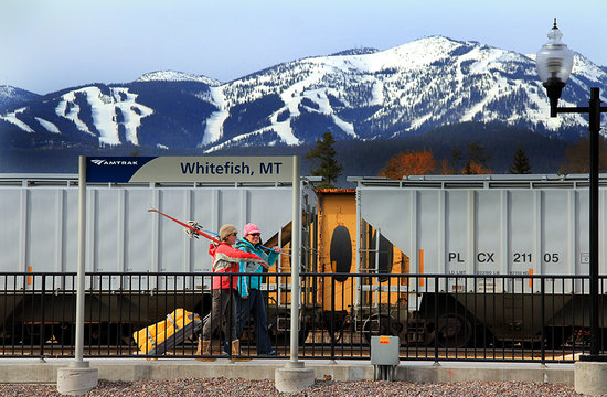 Once you exit the train in Whitefish, you are as good as skiing.