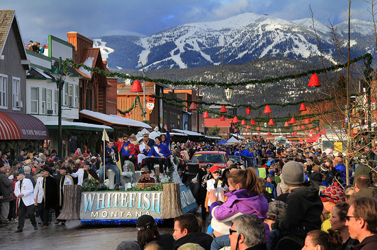The fabulous Whitefish Winter Carnival in February.