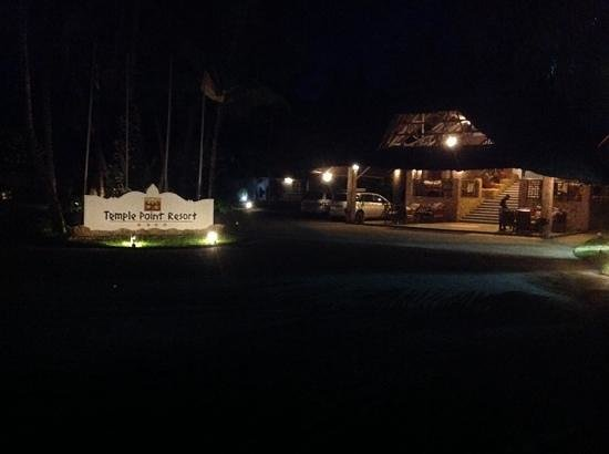 Temple Point Resort: Front view, night photo